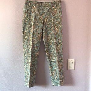 Vintage multicolored Talbots cotton pants
